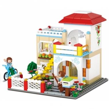 Sluban vrijstaand huis bouwstenen set