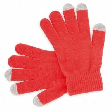 Smartphone handschoenen rood voor volwassenen
