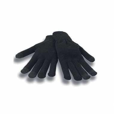 Smartphone handschoenen zwart voor volwassenen