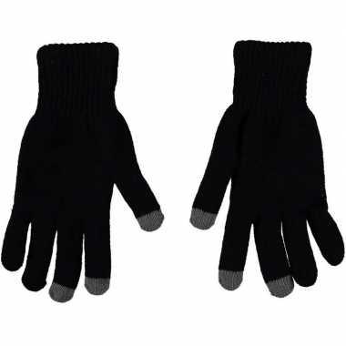 Smartphone thermo handschoenen zwart voor heren
