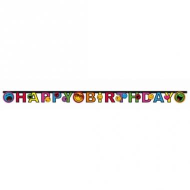 Smiley thema letterslinger happy birthday
