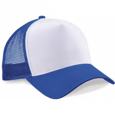 Snapback truckerpet blauw/wit