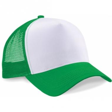 Snapback truckerpet groen/wit