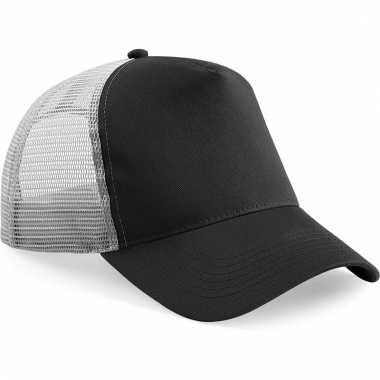 Snapback truckerpet zwart/grijs