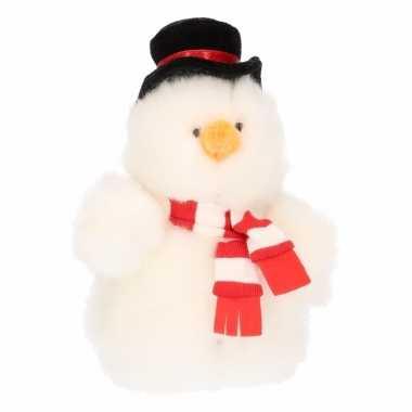 Sneeuwpop van pluche 14 cm