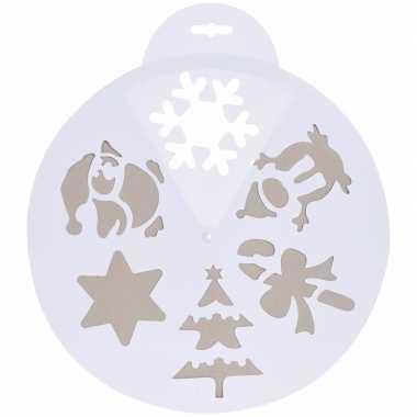 Sneeuwspray sjabloon kerst wit