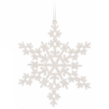 Sneeuwvlok hangdecoratie wit