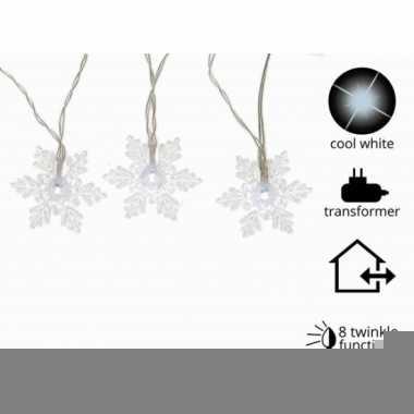 Sneeuwvlok verlichting led koud wit 24 lampjes