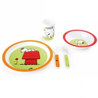 Snoopy thema servies voor kids 5-delig