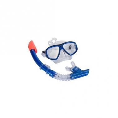 Snorkel set blauw voor volwassenen