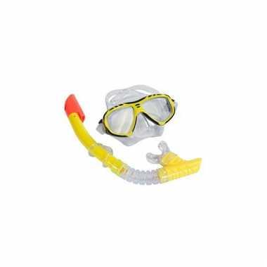 Snorkel set geel voor volwassenen