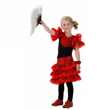Spaans jurkje rood voor meisjes