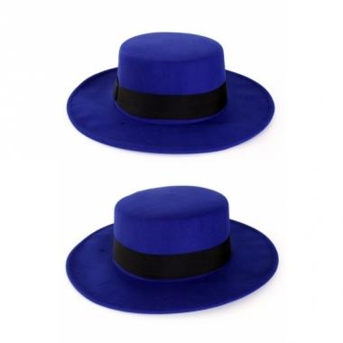 Spaanse hoeden blauw