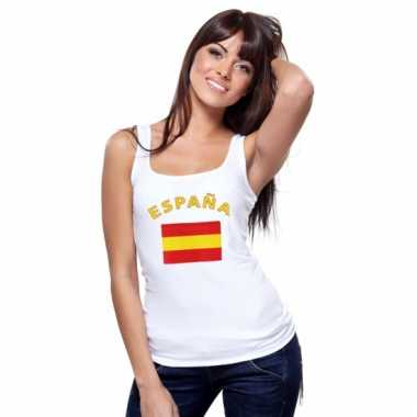 Spaanse vlag tanktop / t-shirt voor dames
