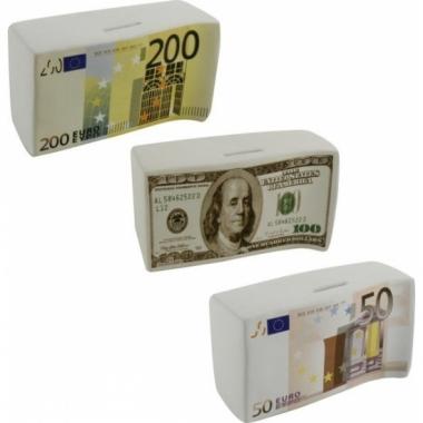 Spaarpot 50 euro biljetten 16.5 cm