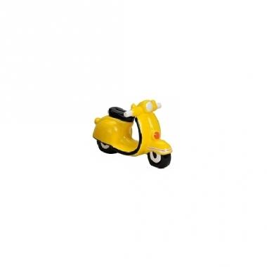 Spaarpot scooter geel 20 cm