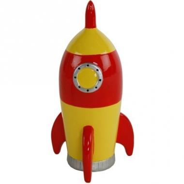 Spaarpot speelgoed raket geel