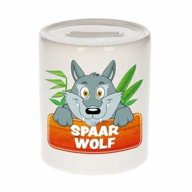 Spaarpot van de spaar wolf wolfie 9 cm