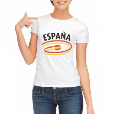 Spanje t-shirt voor dames met vlaggen print