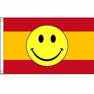 Spanje vlag met smiley 90 x 150 cm