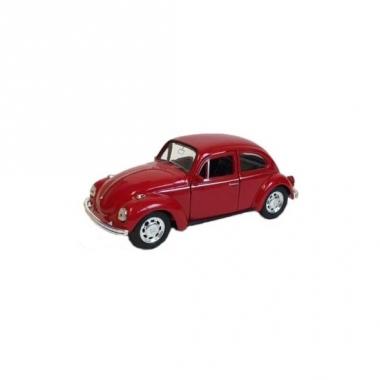 Speelauto volkswagen kever rood 12 cm