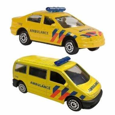 Speelgoed 112 ambulance set 2-delig