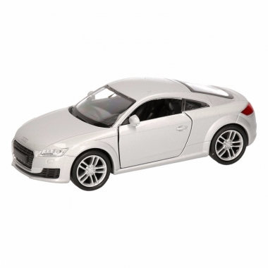 Speelgoed audi 2014 tt coupe grijs autootje 12 cm