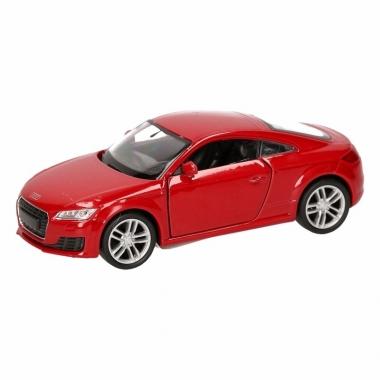 Speelgoed audi 2014 tt coupe rood autootje 12 cm