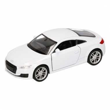 Speelgoed audi 2014 tt coupe wit autootje 12 cm