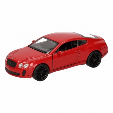 Speelgoed bentley continental supersports rood welly autootje 12 cm
