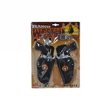 Speelgoed cowboy dubbele holster
