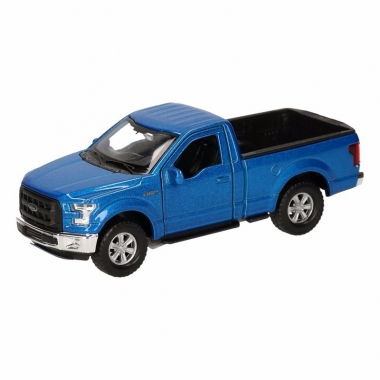Speelgoed ford f-150 pick up truck blauw 12 cm