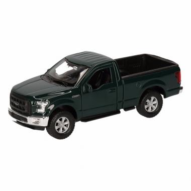 Speelgoed ford f-150 pick up truck donkergroen 12 cm
