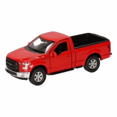Speelgoed ford f-150 pick up truck rood 12 cm