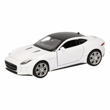 Speelgoed jaguar f-type coupe wit autootje 12 cm