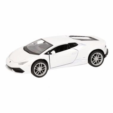 Speelgoed lamborghini huracan lp610-4 wit welly autootje 12 cm