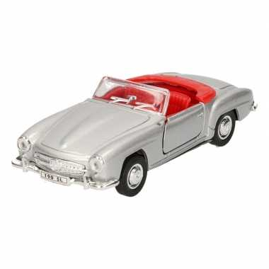 Speelgoed mercedes-benz 1955 190sl zilver welly autootje 12 cm