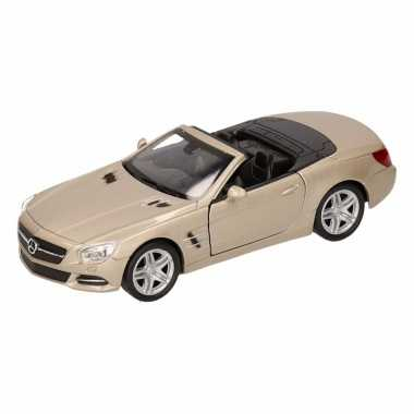 Speelgoed mercedes-benz 2012 sl500 champagne zilver welly autootje 12