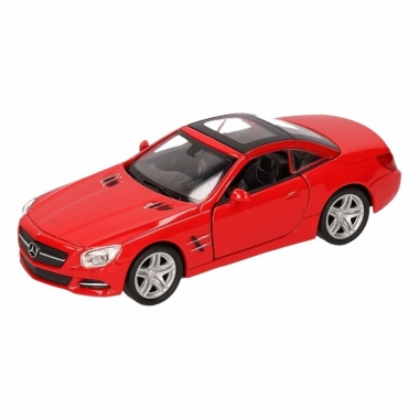 Speelgoed mercedes-benz 2012 sl500 rood welly autootje 12 cm