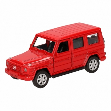 Speelgoed mercedes-benz g-class rood 12 cm