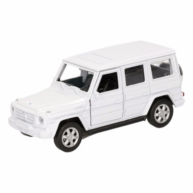 Speelgoed mercedes-benz g-class wit 12 cm