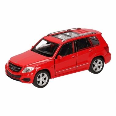 Speelgoed mercedes-benz glk rood autotje 12 cm