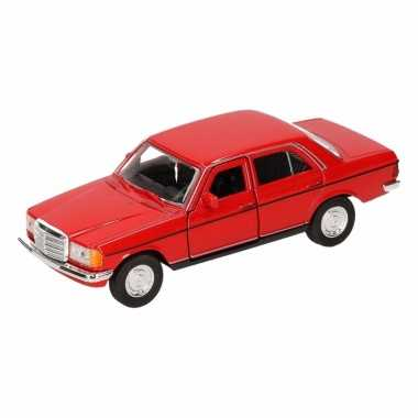 Speelgoed mercedes-benz w123 rode welly autootje 16 cm