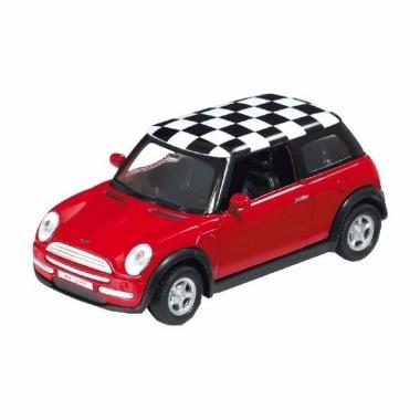 Speelgoed mini cooper rood 1:34