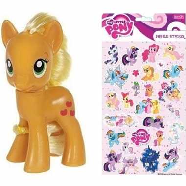 Speelgoed my little pony plastic figuur applejack met stickers/sticke