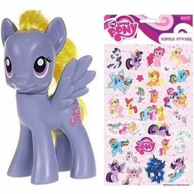 Speelgoed my little pony plastic figuur lily blossom met stickers/sti