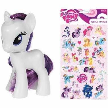 Speelgoed my little pony plastic figuur rarity met stickers/stickerve