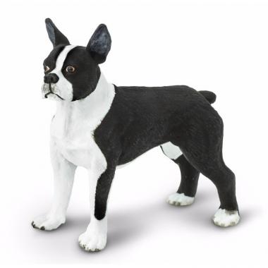 Speelgoed nep bostonterrier hond 5 cm