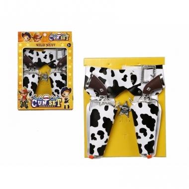 Speelgoed pistolen en holsters met koeienprint