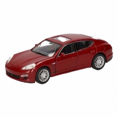 Speelgoed porsche panamera s rood autootje 12 cm